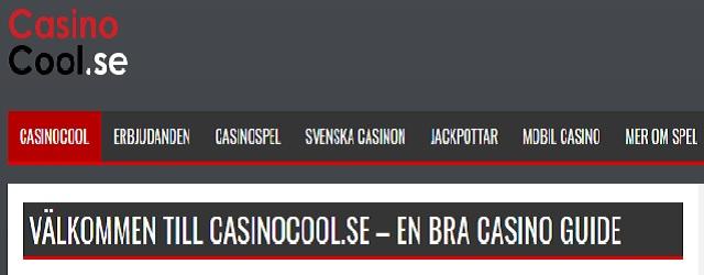 Casinocool skärmdump